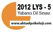 2012 LYS Yabancı Dil Soru ve Cevapları