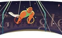 Londra 2012 Ritmik Jimnastik Google Doodle