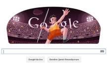 2012 Londro Olimpiyatları Google Cirit Atma Logosu