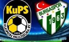 Bursaspor Kups Kuopiyo Maçının Golleri ve Özeti