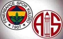 Fenerbahçe Medikal Park Antalyaspor Maçı Özeti İzle