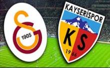 Galatasaray Kayserispor Maçı Sonucu Canlı Anlatım