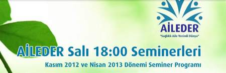 Aile-Der 2012- 2013 Seminer Programı