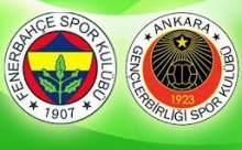 Fenerbahçe Gençlerbirliği Maçı Sonucu Canlı Anlatım