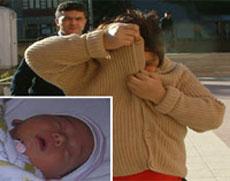 4 günlük bebeğini internette satmak istedi