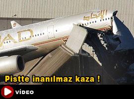 İlginç uçak kazası - Video