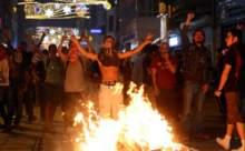 Taksimde göstericiler hayatı felç etti
