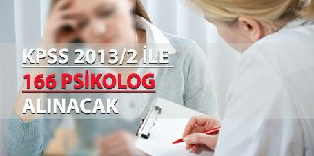 KPSS-2013/2 ile 166 Psikolog Alınacak