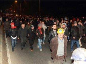 Santral işçileri Yatağan'dan Ankara'ya Yürüyor