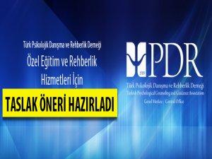 Türk PDR-Der Rehberlik Hizmetleri İçin Taslak Hazırladı