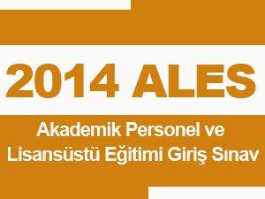 2014 ALES İlkbahar Sonuçları Açıklandı