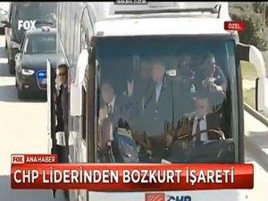 Kılıçdaroğlu Bozkurt İşareti - VİDEO