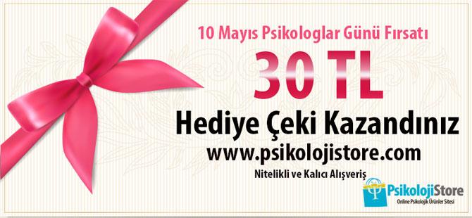 10 Mayıs Psikologlar Günü 30 TL Hediye Çeki