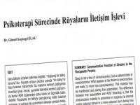 Psikoterapi Sürecinde Rüyaların İletişim İşlevi