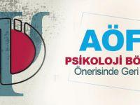 AÖF'e Psikoloji Bölümü Önerisinde Geri Adım!