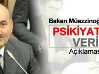 Bakan Müezzinoğlu'ndan Psikiyatrik Veri Açıklaması?