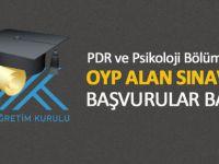 PDR ve Psikoloji OYP Alan Sınavlarına Başvurular Başladı