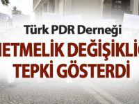 Türk PDR Derneği'nden Yönetmelik Değişikliğine Tepki