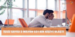 İşsiz Sayısı 3 Milyon 531 Bin Kişiye Ulaştı