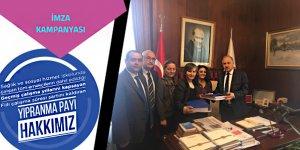 Sağlıkta Yıpranma Payı İmzaları TBMM'ye Teslim Edildi