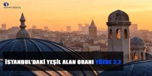 İstanbul!daki Yeşil Alan Oranı Yüzde 2,2