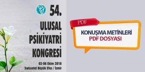 54. Ulusal Psikiyatri Kongresi Konuşma Metinleri