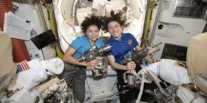Kadın astronot ekibinden uzay yürüyüşü