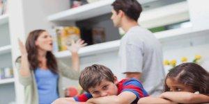 Evdeki tartışmalar çocukları etkiliyor