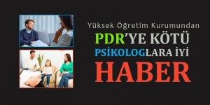 YÖK Karar Verdi: PDR Mezunları Sağlık Lisansiyeri Değil