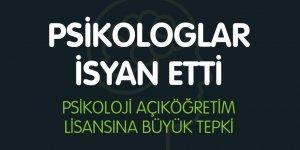 Psikoloji Açık Öğretim Lisansına Büyük Tepki