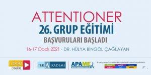 Attentioner 26. Grup Eğitimine Başvurular Başladı