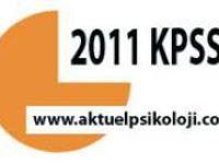 2011 KPSS/7 TERCİH İŞLEMLERİ