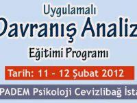 Uygulamalı Davranış Analizi Eğitim Programı