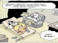LAN Bİ SUS! Hipnoz Seansı - Karikatür