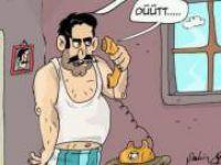 Alo Sigara Bırakma Hattı - Karikatür -