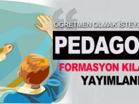 2014 Pedagojik Formasyon Başvuru Kılavuzu